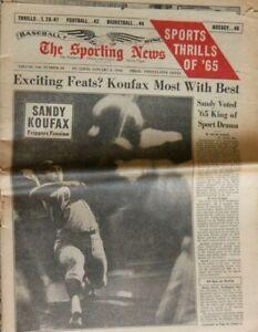THE SPORTING NEWS - JANUARY 8, 1966 - SANDY KOUFAX