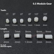 1.5mm/2mm 7/8/10 Teeth Toy Car Transmission Worm Plastic For Gear Motor RC Model