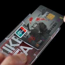 2pcs Hard Plastic Badge Holder Double Card Transparent Vertical Card Holder 2018