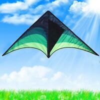 30M Large Green delta kite Single Line For Kids and adults Easy to Fly Toys