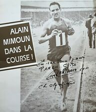 Autographe athlète olympique Alain Mimoun
