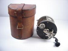 Vintage Edward Vom Hofe New York 4/0 621 Fishing Reel In Leather Case