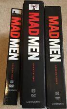 (3) Mad Men DVD Lot: Seasons 1-3        DVDs   AMC Complete Sets Watched Once