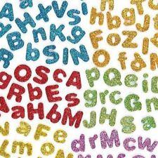 Kraftz ® glitter in schiuma EVA Lettere Adesivo Autoadesivo MIX COLORI Kids Art Craft