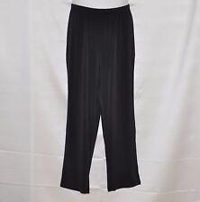 Bob Mackie Regular Classic Straight Leg Pull-On Pants Size L Black