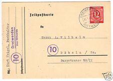 Nachverw. Feldpostkartenvordr., Mi.-Nr. Einheit., 919 EF,  o Dreiwerden, 1946