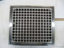 Vintage Chrome Floor Heat Register Grate 12 x 14