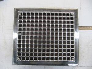 Vintage Chrome Floor Heat Register Grate 12 x 14
