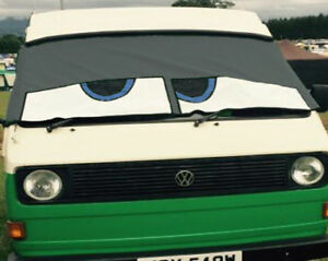 VW Type 25 original Bus Eyes screen cover / wrap Buseyes blind Happy eyes Grey