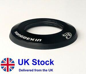 "UK STOCK MTB / Road Flat Headset Dust Cover Black Alu 1 1/8"" 28.6mm - 47.6mm"