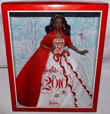 NEW-2010 HOLIDAY BARBIE DOLL-AFRICAN AMERICAN-AA-AMAZING JEWELRY-RED/WHITE GOWN