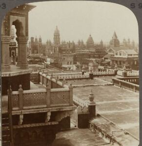 India. Substantial Elegance of Modern Madras Law Court Buildings - Stereoview