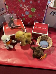 NEW American Girl Julie Original Dog Walking Set & Bunny set Retired Cute sets