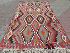 "Anatolia Antique Turkish Antalya Nomads Kilim 68,5"" x 123,6"" Area Rug Carpet"