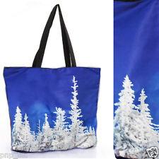 2015 Womens Blue Winter Trees Shoulder Print Galaxy Handbags Laptop Shopping Bag