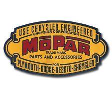 Large Mopar Embroidered Patch - Vintage Logo Design - Wax Backing - Non Merrowed