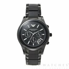 *NEW* EMPORIO ARMANI AR1410 CERAMICA BLACK ROSE MEN'S WATCH