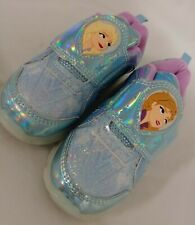 Disney Frozen 2 Light Up Athletic Shoes Anna Elsa Toddlers Kids Sz 10c - Wore 1X