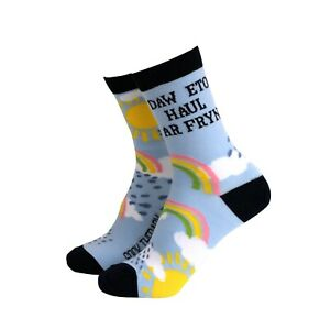 Womens Welsh Daw Eto Haul Ar Fryn Novelty BAMBOO Gift Socks | Sock Therapy