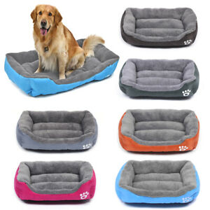 Pet Dog Cat Bed Soft Warm Kennel Mat Pad Blanket Puppy Cushion Washable 6 Sizes