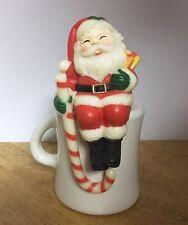 VINTAGE Sitting SANTA Plastic Christmas Stocking Hanger / Shelf Sitter