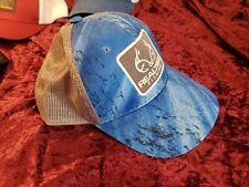 Realtree Fishing Camo Mens Real Tree Trucker Cap Hat Blue Gray