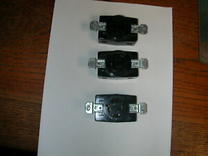 (QTY 3) BRYANT NEMA L14-20 Locking 3 Pole 4 Wire  20A 125/250V receptacle outlet