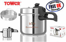Tower 5.5L T80210 Aluminium High Dome Pressure Cooker All Hobs Induction Steamer