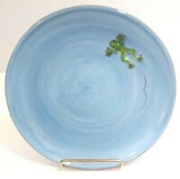 "3D Frog Salad/Dessert Plates 8 1/2"" Frog is Raised Pottery Barn"