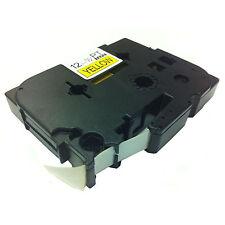 Hermano compatible Tz631 P-touch 12mm X 8m Negro Sobre Amarillo Cinta
