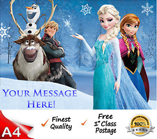Frozen Cake Topper A4 Edible Wafer Paper Topper FREE FIRST CLASS POST!