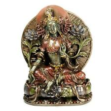"GREEN TARA STATUE 8"" Bronze Resin Buddha HIGH QUALITY Buddhist Goddess Tibetan"