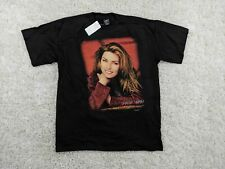 New Vintage Shania Twain T-Shirt Adult XL Extra Large Black Red 90s Country Pop