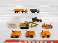 CG449-0,5# 8x Wiking H0/1:87 Modelle 660 Bagger+651+Schütter 657/65s… tlw Mängel
