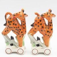 Vintage Giraffe Salt & Pepper Shakers Set made in Japan