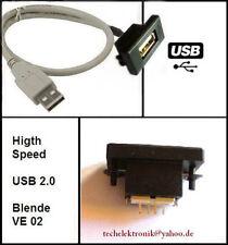 USB Einbaubuchse Einbausteckdose 50cm passend für Autoradio HiFi A3 A4 C180 E200