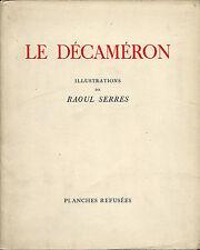 EO N° BOCCACE + RAOUL SERRES + 6 ILLUSTRATIONS LE DÉCAMERON PLANCHES REFUSÉES