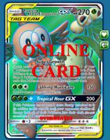 Rowlet & Alolan Exeggutor GX FA Unified Minds Pokémon TCG Online PTCGO CARD FAST