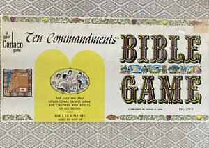 1966 Vintage Ten Commandments Bible Game by Cadaco.  New Sealed, 1966.