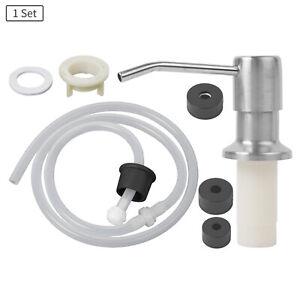 Stainless Steel Soap Dispenser Extension Tube 3 sizes Cap Kit for Kitchen Sink