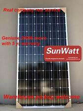 SUNWATT geniune 200W mono solar panel 18V 12V caravan battery BOAT WARRANTY