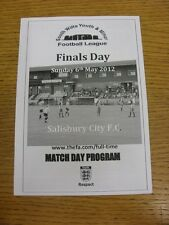 06/05/2012 Football Programme: South Wiltshire Youth League Cup Finals - U08, U0