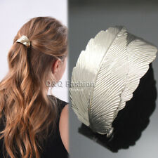 Rare Bridal 2 Curve Leaf Feather French Updo Hair Pin Clip Dress Snap Barrette