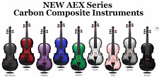 AEX CARBON COMPOSITE ACOUSTIC ELECTRIC VIOLIN 4 STRING, CHOICE OF COLORS