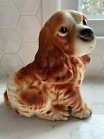 Vintage Cocker Spaniel Puppy Dog Planter Vase Napcoware C7087 MADE IN JAPAN