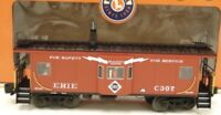 ✅ LIONEL SMOKING ERIE BAY WINDOW CABOOSE 6-17644 NEW TRAIN