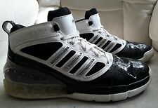 Mens Glossy Black And White Adidas Bounce Athletic Shoes Size 8