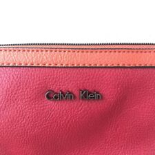 orange red pink Calvin Klein purse coin card wallet