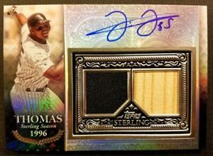 FRANK THOMAS 2021 TOPPS STERLING ON CARD Dual PATCH Jersey BAT AUTO 07/25