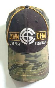 WWE John Cena Camouflage Live Fast! Fight Hard! Cap Hat Adjustable